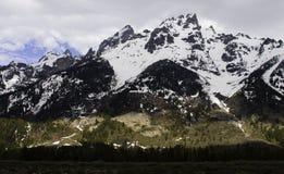 Storslagna Tetons med skugga Royaltyfri Foto