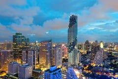 Storstad mycket av skyskrapor i affären Fotografering för Bildbyråer