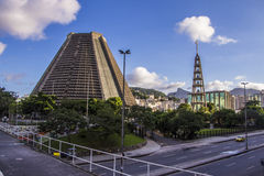 Storstads- domkyrka av helgonet Sebastian - Rio de Janeiro Royaltyfri Foto