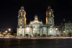 Storstads- domkyrka av Mexico Arkivfoton
