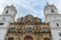 Storstads- domkyrka Casco Viejo, Panama City arkivbilder