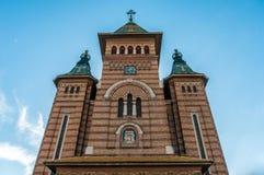 Storstads- domkyrka i Timisoara, Rumänien Arkivbilder