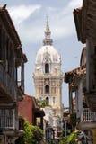 Storstads- domkyrkabasilika av helgonet Catherine av Alexandria i Cartagena de Indias Fotografering för Bildbyråer