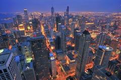 storstads- nattscape royaltyfria foton