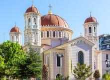 Storstads- ortodox tempel av helgonet Gregory Palamas i Thessaloniki, Grekland Arkivfoton