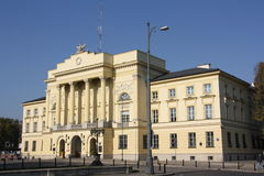 Storstads- polisHQ i Warszawa (Polen) Arkivfoton