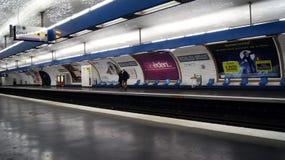 Storstads- station i Paris Arkivfoto