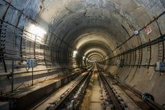 Storstads- tunnel under constraction Royaltyfri Fotografi