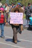 Storstrejk i Cusco, Peru Royaltyfri Fotografi
