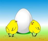 stort ägg Royaltyfri Fotografi
