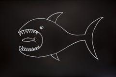 stort äter liten fisk en Royaltyfri Fotografi