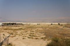 Stort ökenområde i norden av Israel i eftermiddagen Arkivfoton