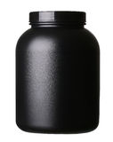 Stort bada av isolerat vasslaproteinpulver för bodybuilding Royaltyfri Fotografi