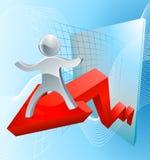 Stort begrepp för affärsresultat Arkivfoton