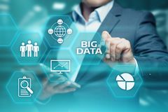 Stort begrepp för information om affär för informationsteknik om datainternet Royaltyfri Bild