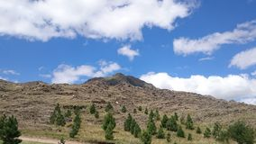 Stort berg arkivbild