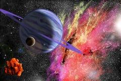 stort blått planet Royaltyfri Fotografi