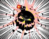 Stort bombardera explosionen vektor illustrationer
