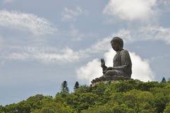 Stort Buddha berg Arkivbilder
