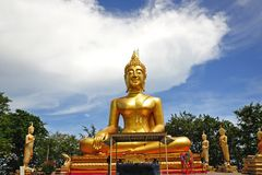 stort buddha pattaya tempel thailand Fotografering för Bildbyråer