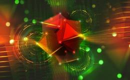 Stort databegrepp Hyperspace portal Nanoteknikbest?ndsdelar av Hadron Collider royaltyfri illustrationer
