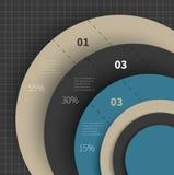 Stort diagram för infographic Royaltyfri Bild