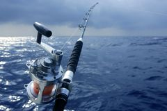 stort djupt hav för fiskelekobat Royaltyfri Fotografi
