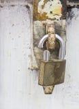Stort fästa låser. arkivbilder