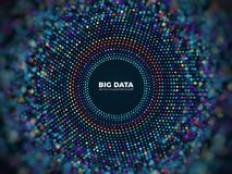 Stort för informationsvektor om data begrepp Abstrakt futuristisk bakgrund med visualization 3d Fotografering för Bildbyråer