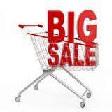 Stort försäljningsbegrepp Arkivbilder