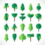 Stort fastställt plant papper för träd stock illustrationer