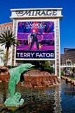 Hägringen undertecknar på den Las Vegas remsan Royaltyfri Fotografi