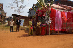 Stort festtälttält för att gifta sig Royaltyfri Foto