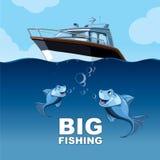 Stort fiske vektor illustrationer