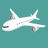 Stort flygplan Arkivbild