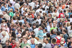 stort folk för folkmassa Royaltyfri Fotografi