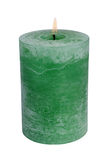 Grönt stearinljus Royaltyfri Foto