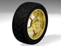 stort guld- hjul Arkivbilder