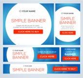 Stort halvt pris och baner för dag försäljning vektor Royaltyfri Fotografi