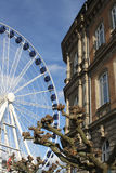 Stort hjul av Dusseldorf Arkivbilder