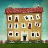 stort hus vektor illustrationer