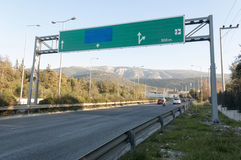 Stort huvudvägvägmärke Royaltyfri Bild