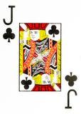 Stort index som spelar kortstålar av klubbor royaltyfri illustrationer