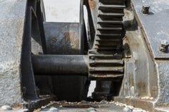 Stort industriellt blocksystem med tandhjul Royaltyfria Bilder