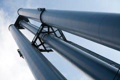 Stort industriellt pumprör Royaltyfria Bilder