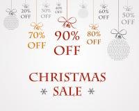 Stort julförsäljningsbegrepp Vektor Illustrationer