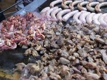 Stort köttmagasin - fårkött lager videofilmer