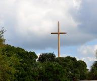 Stort kors på St Augustine, Florida royaltyfri fotografi