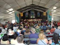 Stort lätt evangelium för New Orleans jazz & för arvfestival Arkivfoton