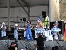 Stort lätt för New Orleans jazz & för arvfestival Arkivbild
